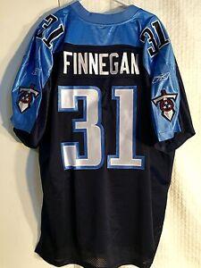 Reebok Authentic NFL Jersey Titans Cortland Finnegan Navy sz 52