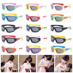 Kids Children Boys Sports Shield Light Flexible Polarised UV400 Lens Sunglasses