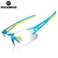 ROCKBROS Photochromic Cycling Hiking Sports Sunglasses Eyewear UV400 Glasse Blue