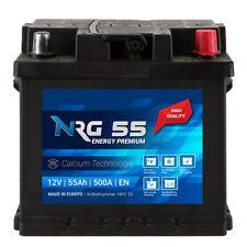 NRG Autobatterie 55Ah Calcium Technologie 12V ersetzt 44Ah 45Ah 46Ah 52Ah 54Ah