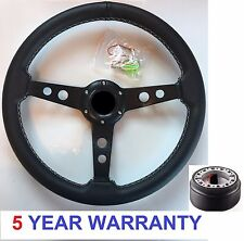 SPORT STEERING WHEEL & BOSS KIT HUB FIT LAND ROVER DEFENDER 90/110 TD5 48 SPLINE