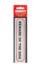 Beware of the dog self adhesive sticker