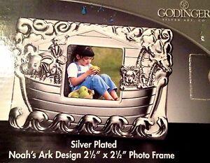 GODINGER Silver Plated NOAH'S ARK Photo Frame NEW Children's Decor