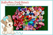 ~BabyRou~ 100 x Dog Grooming Pet Bows (Assorted ribbons) Groomers' Best Value Pk