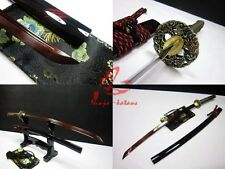 Hand made jp katana sword dragon tsuba folded steel titanium adsorb blade sharp
