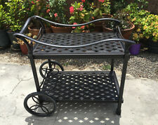Outdoor Tea Cart Patio Furniture Cast Aluminum Bronze
