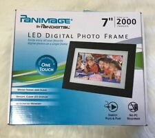 "Remote Control Pandigital Panimage 7"" LED Digital Photo Frame PI7002AWB TESTED"