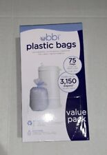 Brand New- Ubbi Plastic Bags, 75 - Value 3 Pack