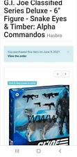 GI Joe Classified Series Snake Eyes and Timber (CONFIRMED JULY PREORDER)