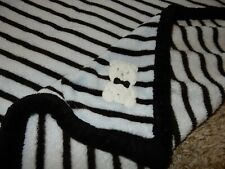 30x30 Absorba Teddy Bear Striped Plush Crib baby Blanket lovey