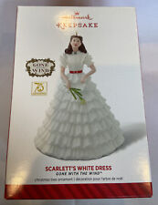 HALLMARK2014 GONE WITH THE WIND SCARLETT'S WHITE DRESS ORNAMENT