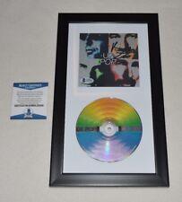 U2 BONO SIGNED AUTOGRAPHED POP CD IN FRAME BAS COA E60936