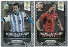2014 PANINI PRIZM Lionel Messi & Cristiano Ronaldo World Cup Stars Insert Cards