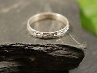 Toller 925 Silber Ring Unisex Damen Herren Muster Rauten Struktur Elegant Modern
