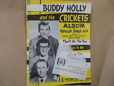 songbook BUDDY HOLLY and the CRICKETS Album