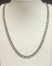 """14k White Gold Miami Cuban Curb Link 22"""" 5MM 20 Grams Chain Necklace  WHMC150)"""