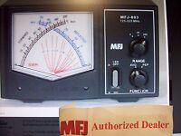 MFJ 893 -  CROSS NEEDLE SWR/WATTMETER - 125-525 MHZ -2/20/200 WATTS