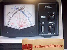 MFJ 893 -  CROSS NEEDLE SWR/WATTMETER - 125-525 MHZ -2/20/200 WATTS VHF/UHF