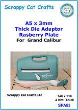 Grand Calibur Junior Thick Die Adapter Plate D (Rasberry): SPA53