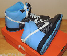 Very Cute Womens Nike AIRFORCE High tops Baby Blue White & Brown girls Size 8