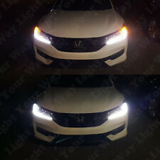 Bright Switchback DRL Parking Signal LED + Resistors for 2016 2017 Accord Civic