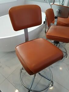 EXTREMELY RARE!!! NINE (9) ORANGE OFFICE CHAIRS BY ECK ADAMS (Nov. 30, 1978)