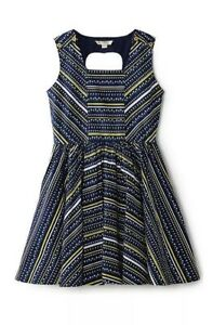 Yumi Girl Tulip Print Dress, Blue Girls Age 13