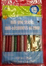 15 Mini Glitter Glue Sticks hot melt gun Art Craft Hobbies Red Green Silver Gold