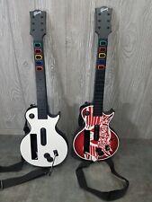 Lot Of 2 Nintendo Wii Gibson Les Paul Guitar Hero Wireless Controller Aerosmith