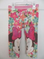NEW DISNEY MINNIE MOUSE PINK FLORAL LEGGINGS BY JUMPING BEANS 3T $26