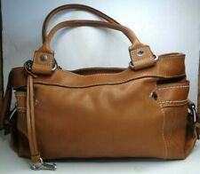 Women's Fossil Handbag Purse Brown Genuine Leather Tote Medium