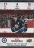 Mark Scheifele Game Day Action Tim Horton's GDA#10 Hockey Card Winnipeg Jets
