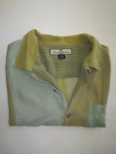 Men's Tommy Bahama Relax Sz L 100% Silk Button Front Camp Style Shirt