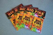 BIG FIRE Campfire Colorant Packets Flame Color Camping Mystical 4 Double = 8 pkt