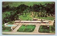 Grand Island, NY - AERIAL VIEW OF CINDERELLA MOTEL & OLD CARS - POSTCARD - D3