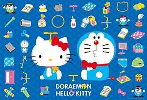 1000 Piece Jigsaw Puzzle Doraemon �~ Hello Kitty Takeko (49 x 72 cm)