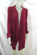 Rick Owens Open Cardigan Sweater Long Front Shorter Back in Red sz 6