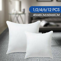 4/12 pcs Memory Resilient Cushion Pillow 45x45/65x65cm Inserts Polyester Filling
