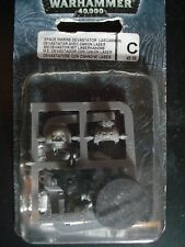 Warhammer 40K GW Space Marine Devastator with Lascannon Blister Metal NIB NEW