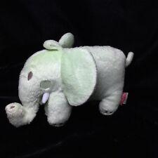 "Amy Coe Plush Green Elephant Mod Peanut Stuffed Baby Soft Toy 8"""