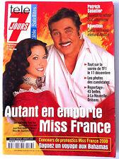 Télé 7 Jours 11/12/1999; Miss France; Mareva/ Line Renaud/ Lara Fabian/ Malkovic
