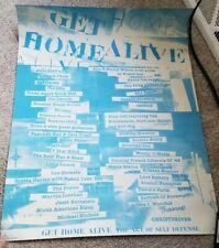 Home Alive The Art of Self Defense Poster Gits Mia Nirvana Pearl Jam Soundgarden