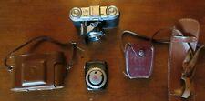 Vintage Voigtlander 35mm Camera Color-Skopar 1:3.5 50mm Lens w/Case & GE Meter
