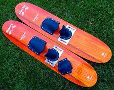 TRICK SKI SEA GLIDERS All Original Made In Canada—Adjustable Steel Plate Binding