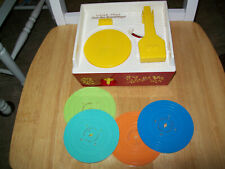 Fisher-Price Record Player/ MUSIC BOX- 4 RECORDS, GOOD CONDITION