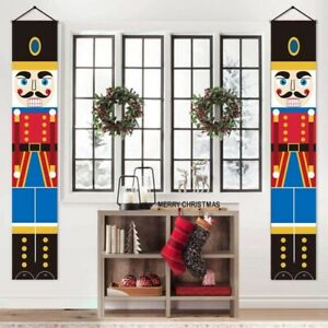 Nutcrackers Soldier Banners Couplet Christmas Door Hanging Flag Home Decoration