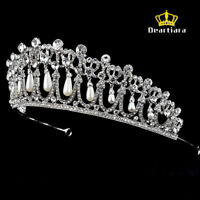 Deartiara Crystal Rhinestone Princess Diana Love Knot Tiara Wedding Crown