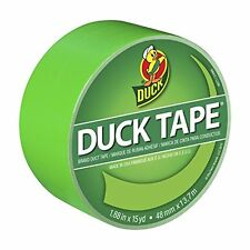 Duck Brand 1265018 Color Duct Tape, Neon Lime Green, 1.88 Inches x 15 Yards, Sin