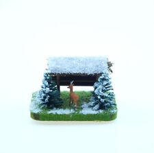 Jordan H0: Kleine Futterstelle mit Wild im Schnee (JO 33A) - NEU
