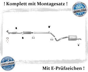 Auspuffanlage VW Polo 9N 1.2 VW Fox 1.2 Bj. 05-14 Auspuff Flexrohr